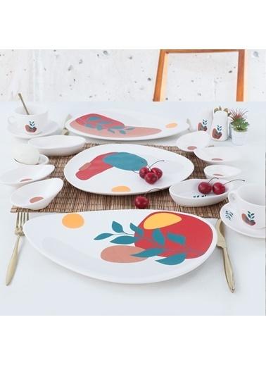 Keramika Keramika 17 ParÇa 2 Kişilik Olivia Kahvaltı Takımı Renkli